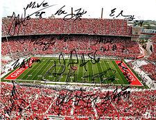 2016 Ohio State Buckeyes team signed autographed football photo Mike Weber!