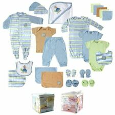 Luvable Friends Boy Shower Gift Cube, 24-Piece Set, Blue Turtle