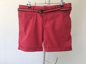 Mexx pink cotton shorts size10uk fits better12uk