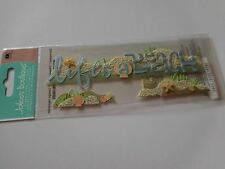 Scrapbooking Crafts Jolee's Stickers Life's A Beach Title Sand Castle Sea Shell