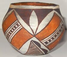 Acoma Pottery Vase Pot signed New Mexico Fine Line Design Early Piece