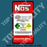NOS NITROUS BOTTLE DECAL STICKER REPLACEMENT HOT ROD DRIFT RALLY DECAL STICKERS