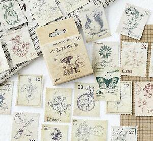 LITTLE FOREST STICKERS Stamp Flower Plant Scrapbook Journal Craft Decoration