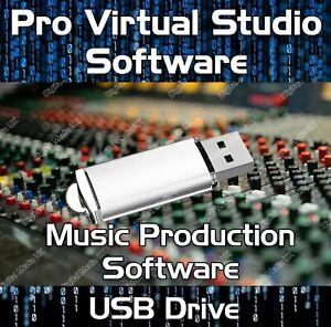 MULTI-TRACK MUSIC EDITING, MIXING, RECORDING VIRTUAL STUDIO PRODUCTION USB DRIVE