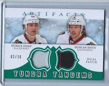 "2012-13 ARTIFACTS ""TUNDRA TANDEMS"" P. SHARP/DUNCAN KEITH #D 02/36 BLACKHAWKS 1/1"