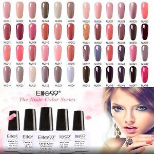 Elite99 Colours Nude UV LED Soak Off Nail Gel Polish Salon Professional Top Coat