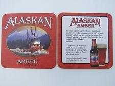 Beer Bar Coaster ~ ALASKAN Amber Alt Style ~ Gold Rush Era Recipe ~ ALASKA Ship