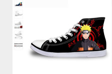 Naruto Anime Manga Mens Shoes High Top Canvas Sneakers Gaming Many Styles Sizes