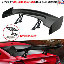 "57"" inch Universal 3D 3DI GT Real Carbon Fiber Adjustable Rear Wing Spoiler"