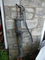 """Wards Antique 65"""" Tall Cast Iron Farm House Hand Well Water Pump USA Made AS IS"""