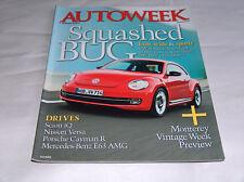 autoweek August 2011 Car Truck RIVISTA VW volkswagen bug BASSI,larghezza &