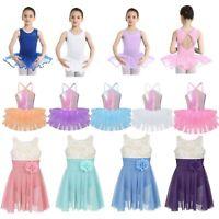 Toddler Girls Gymnastics Leotard Dress Ballet Dance Tutu Skirt Cutout Dancewear