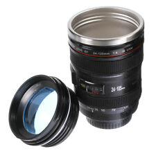 Camera Lens Coffee Mug Water Tea Cup Thermos Vacuum Canon EF 24-105mm Blue lid