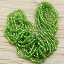 6/0 MATTE LIGHT OLIVINE AB / SILVER LINED CZECH SEED BEADS - 70grams