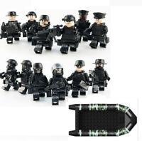 Army Military SWAT Minifigures plus Boat
