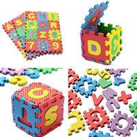 ds Tappetino Tappeto Puzzle Lettere E Numeri In Gomma Set 36 Pezzi Cm.6x6 dfh