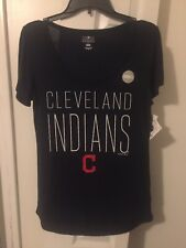 New Cleveland Indians Womens Baseball Shirt Ladies sz Small Nwt
