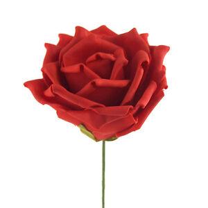 Rose Foam Flower Stem Wedding Decor, 12-Inch