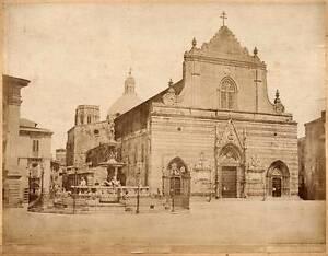 Messina Sicile La Cathédrale Vintage photo albuminé vers 1870 Giuseppe Incorpora
