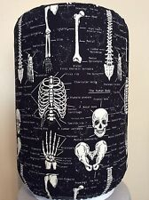 BONE HALLOWEEN SKELETON 5 GALLON WATER COOLER BOTTLE COVER KITCHEN DECORATION