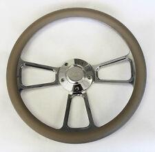 "Falcon Thunderbird Galaxie Steering Wheel Grey & Billet 14"" Ford Center Cap"