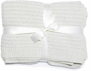 Ease-n-Comfort Knitted Throw Blanket Lightweight Warm Sofa Acrylic Cable Pattern