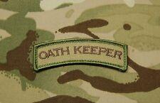 Oath Keeper Tab Patch Multicam US Army Morale Patch Afghanistan Hook & Loop