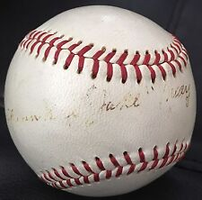 "ONLY KNOWN Frank ""Jakie"" May dec1970 JSA LOA Signed Baseball Cardinals Cubs 1932"