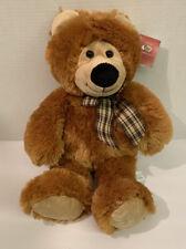 """Ms Teddy Bear - 18"""" Brown Teddy Bear With Bow NWT"""