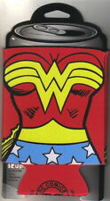 Wonder Woman Costume Chest Red Yellow Blue and White Beer Huggie Can Cooler NEW