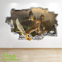 HARRY POTTER WALL STICKER 3D LOOK - BEDROOM KIDS HOGWARTS WALL DECAL Z616