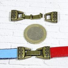 4 Cierres Para Cuero 32x13mm T537C Bronce Leather Beads Cuir Clasps Bronze