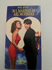 *** So I Married an Axe Murderer VHS Mike Myers Nancy Travis