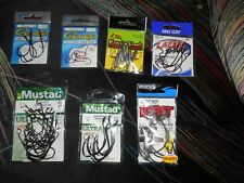 58 Premium Assorted Sizes Fishing Hooks in 7 Packages
