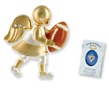 FOOTBALL Wings & Wishes Angel Tac Pin NEW! Gift Boxed RETIRED!