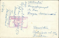 1943 Germany Yugoslav Prisoner of War POW Camp Postcard Cover Oflag 13B Croatia