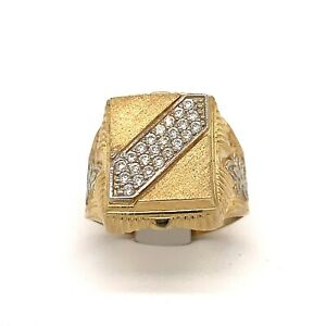 Mens 10kt Pinky Ring Yellow Gold .45ct