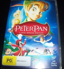 Peter Pan 2 Disc Special Edition Walt Disney (Australia Region 4) DVD – Like New