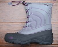 The North Face Girl's Kids Alpenglow IV Lace Insulated Waterproof Winter Boots 6