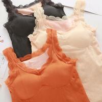 Womens Thermal Vest Underwear Sleeveless Waistcoat Tank Top Winter Warm Tank Top