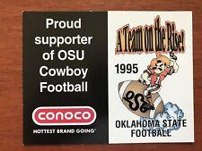 CFB 1995 OKLAHOMA STATE COWBOYS OSU Football Schedule College FB