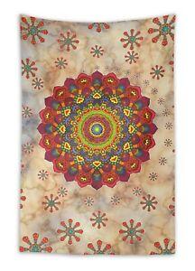 Timingila Beige Floral Mandala Home Decorative Wall Hanging Bed-WaY