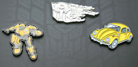 Transformers BumbleBee Loot Crate Lapel 3 Pin Set NOS Limited Edition VW Bug