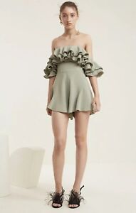 NWT C/MEO COLLECTIVE IMMERSE PLAYSUIT SIZE SMALL SAGE GREEN