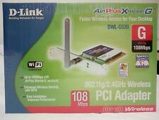 Scheda WIFI PCI D-Link DWL-G520 AirPlus Xtreme G 108Mbps WLAN Wireless Network