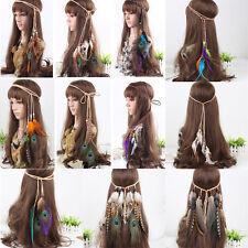 Hippie Indian Feather Headband Hairband Carnival Headdress Headpieces Bonfire