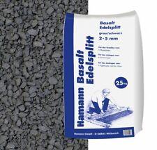 (0,42€/1kg) Basalt Edelsplitt 2-5 mm 25 kg Sack