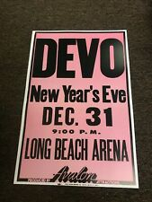 "Devo 1979 New Year's Eve Los Angeles Concert Cardstock Poster 12"" x 18"""