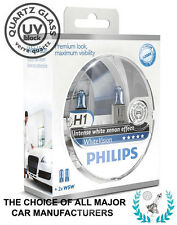 PHILIPS H1 WHITE VISION 4500K Xenon Crystal WhiteVision +2 W5W | 100% GENUINE!