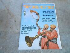 AUG 1961 TRUE vintage mens adventure magazine --- ROGERS HORNSBY